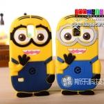 (128-021)เคสมือถือซัมซุงกาแล็คซี่เอส 5 Samsung Galaxy Case เคสนิ่มตัวการ์ตูนมินเนี่ยนน่ารักๆ