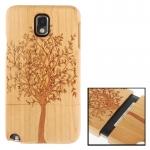 Woodcarving Tree Pattern Detachable Pinevood Material Case เคส Samsung Galaxy Note 3 (III) / N9000 ซัมซุง กาแล็คซี่ โน๊ต 3