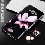 (025-523)เคสมือถือซัมซุง Case Samsung J2 Prime เคสกรอบเพชรลายดอกไม้สไตส์ผู้หญิง วัสดุ silica gel