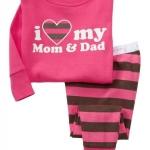Pre-ขุดนอน Baby Gap แขนยาว ลาย I love mom & Dad