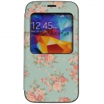 Window View Flip Cover Case Skin Protective Womens Cute Flower Floral For Samsung Galaxy S4, S IV, i9500