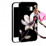 (พร้อมส่ง)เคสมือถือซัมซุง Case Note5 เคสนิ่มคลุมเครื่องลายดอกไม้แฟชั่นสวยๆ พร้อมสายคล้องมือลายดอกไม้