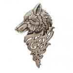 Game of Thrones Silver Wolf Collar Brooch เข็มกลัดรูปหมาป่าสีเงินแต่งปกเสื้อ 1 ชิ้น