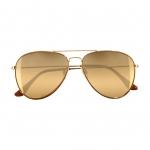 พร้อมส่งไทน - แว่นตากันแดด H&M ทรง Rayban ฉาบปรอททอง กันUV ได้ ของแท้จากช้อบยุโรป