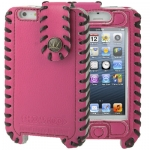 Case เคส Hand-made Style Top-grain Cowhide Leather Case iPhone 5 (Magenta)