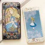 (681-004)เคสมือถือไอโฟน Case iPhone 7 Plus/8 Plus เคสและฟิล์มกระจกเข้าชุด Alice The little mermaid