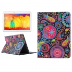 Abstract Flowers Case Samsung Galaxy Note 10.1 (2014 Editon) >>> P600