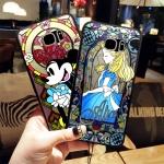 (576-014)เคสมือถือซัมซุง Case Samsung S6 edge เคสพลาสติกใสโมเสคลายการ์ตูน