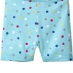 Oldnavy กางเกงผ้ายืดเนื้อดี สีฟ้าลายจุดหลากสี สดใส น่ารักดีค่ะ size 5T
