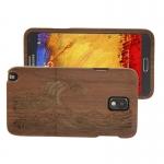 Woodcarving Wave Pattern Black Pear Wood Material Case เคส Samsung Galaxy Note 3 (III) / N9000 ซัมซุง กาแล็คซี่ โน๊ต 3