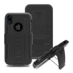 (002-221)เคสมือถือไอโฟน Case iPhone X เคสนิ่มเกราะพลาสติกกันกระแทกเหน็บเอว