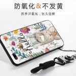 (025-682)เคสมือถือไอโฟน Case iPhone7 Plus/iPhone8 Plus เคสนิ่มซิลิโคนลายน่ารักพร้อมแหวนมือถือและสายคล้องคอถอดแยกได้