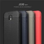 (025-806)เคสมือถือซัมซุง Case Samsung J3 2017 เคสนิ่มซิลิโคนลายหนังสไตส์เรียบหรู