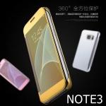 (676-001)เคสมือถือซัมซุงโน๊ต Case Note3 เคสพลาสติกฝาพับเปิดข้างกึ่งโปร่งใสสไตล์ Clear View