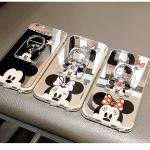(025-638)เคสมือถือไอโฟน Case iPhone7 Plus/iPhone8 Plus เคสนิ่มซิลิโคนพื้นแววกึ่งกระจก ลายการ์ตูนพร้อมแหวนมือถือ