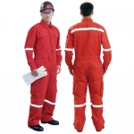 ชุดทำงานผ้า NOMEX 4.05Z ชุดหมีติดแถบสะท้อน (NOMEX WORK CLOTHING)