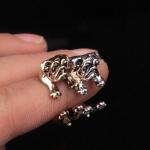 3D Pug Dog Open Ring แหวนรูปน้องหมาปั๊ก 3 มิติ รอบแหวนแบบเปิด