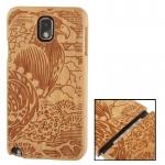 Woodcarving Bird Pattern Cherry Wood Material Case เคส Samsung Galaxy Note 3 (III) / N9000 ซัมซุง กาแล็คซี่ โน๊ต 3
