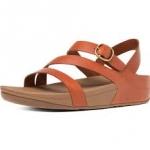 *** พร้อมส่ง FitFlop The Skinny Z-Cross Sandal Dark Tan US 7