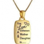 Love between Mother & Daughter is.... ของขวัญวันแม่ สร้อยคอสลักข้อความดีๆ ความรักระหว่างแม่กับลูกสาวคือ