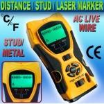 RF03-เครื่องมือวัดระยะ 5in1 Distance Meter Stud Metal Wire Detector Laser Tool