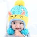 หมวกแมวน้อยสีฟ้า