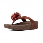 *** พร้อมส่ง FitFlop Flowerball Leather Dark Tan US 6