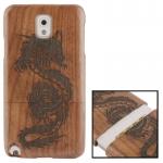 Woodcarving Dragon Pattern Mahogany Wood Material Case เคส Samsung Galaxy Note 3 (III) / N9000 ซัมซุง กาแล็คซี่ โน๊ต 3