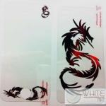 ฟิล์มกันรอย แฟชั่น ลายกราฟฟิก แฟนชี  ลายมังกร for iPhone4S/4S (MSP058) by WhiteMKT