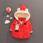 เสื้อกันหนาวสีแดงมีขอนอ่อนด้านใน สำหรับอายุ 1-3 ปีค่ะ