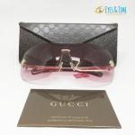 แว่นกันแดด Gucci ไร้กรอบ เลนส์สีชมพู รุ่น GG 1795/N/S J5GAD 120