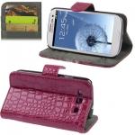 Case เคส Crocodile Samsung Galaxy S 3 III (Purple)