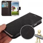 Case เคส Roots แบบพลิกแนวนอน Samsung GALAXY S4 IV (i9500)(Black)