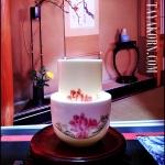ชุดถ้วยชาแบบดมดื่ม ลายดอกโบตั๋น ฺ Botan Tea cup TKLG-BT1