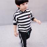 เสื้อ + กางเกง สีดำลาย น่ารัก สำหรับอายุ 1- 4ปี