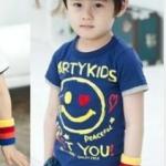 เสื้อเด็ก น่ารัก สไตล์เกาหลี สีน้ำเงิน (ซื้อ 3 ตัว ราคาส่ง 150 บาท) คละลายได้ค่ะ