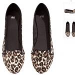 พร้อมส่งไทย - H&M แท้ รองเท้าบัลเลลินา ลายเสือ ผิวผ้าซาติน ใส่สบาย จาก shop ยุโรป ไซส์ 39 40
