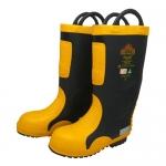 รองเท้าใช้สำหรับการดับเพลิง หัวเหล็ก พื้นทนความร้อน รุ่น MT ( FIRE BOOT )