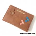 กระเป๋าสตางค์ใบกลาง QQMOUSE สีน้ำตาล