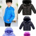 เสื้อกันหนาว สีม่วง และ สีชมพู สำหรับอายุ 5-8 ปี ใส่ได้ทั้งเด็กหญิง และ เด็กชาย น้องที่ใส่อายุ 7 ปี