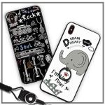 (025-864)เคสมือถือไอโฟน Case iPhone X เคสนิ่มลายการ์ตูนเกาหลีน่ารักๆ พร้อมสายคล้องคอแบบถอดแยกได้