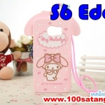 (151-052)เคสมือถือซัมซุง Case Samsung S6 edge เคสนิ่ม Melody พร้อมสายคล้อง
