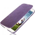 Case เคส Crazy Horse แบบพลิกแนวนอน Samsung GALAXY S4 IV (i9500) (Purple)