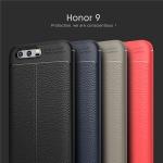 (025-834)เคสมือถือ Case Huawei Honor 9 เคสนิ่มซิลิโคนลายหนังสไตส์เรียบหรู