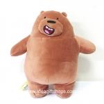 ตุ๊กตาหมี We bare bears นุ่มมากๆ ขนาด 10 นิ้ว สีน้ำตาล