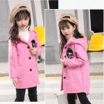เสื้อกันหนาวเด็กสีชมพู สำหรับอายุ 4-10 ปี