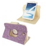ซองหนัง แบบพลิกแนวนอน หมุนได้ 360 องศา 2สี Samsung Galaxy Note 8.0 (N5100) (Purple)