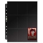 Ultra•Pro 18-Pocket Platinum Topload Page with Black Background (10 Sheets/180 Pockets)