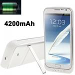 Power Bank 4200mAh Samsung Galaxy Note 2 สีขาว
