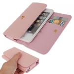 Case เคส Litchi iPhone 5 (Pink)